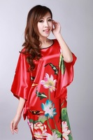 Ms. Tang Suit Robe Chinese National Costumes Hand-Painted Unlined Upper Garment Fashion Lady Bathrobe Nightgown YK789