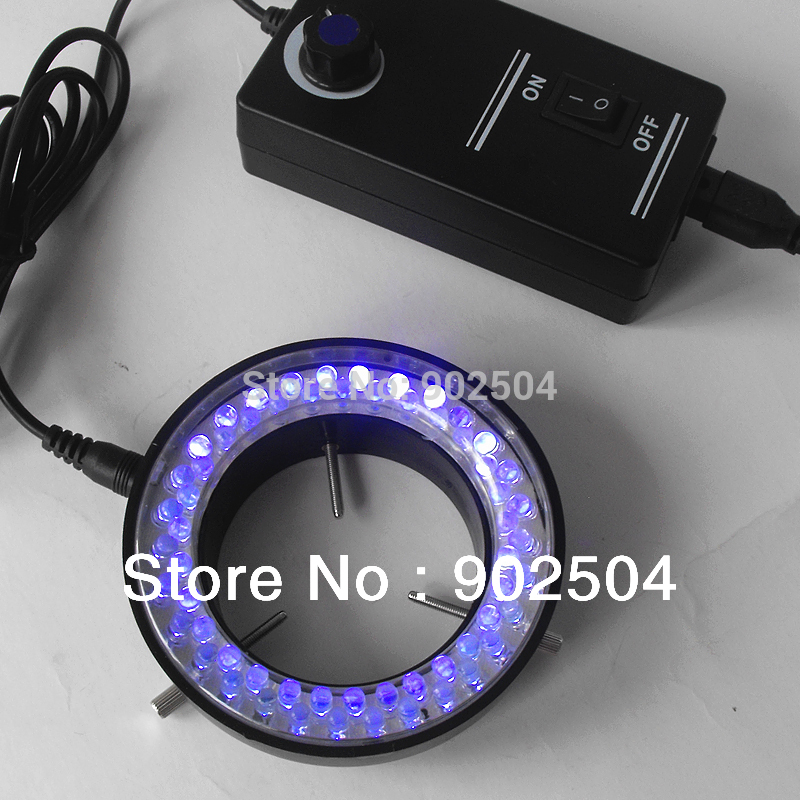 Purple Light 60 Led Lamps Ring Lamp used on Stereo Biological Zoom Stereo Microscope Parts with Adapter 220V or 110V(China (Mainland))