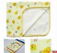 baby waterproof reusable changing mat ,100% cotton  breathing mattress urine pad, M size,70*60cm,free shipping