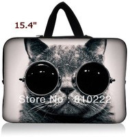 "15"" 15.4""inch waterproof notebook laptop sleeve case handle bag briefcase-Hiden Handle-836h-Fat blue Cat"