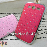 Factory Price- Wave lines Chrome frame Diamond  Star back  case for samsung i9082,DHL Free Shipping 300pcs/lot