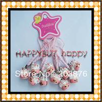 Free Shipping 200pcs Maneki Neko Lucky cats Cell Phone Strap Mobile Strap PINK