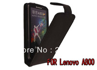 Business fashion black style Made of second layer cow leather for lenovo A800 free shipping