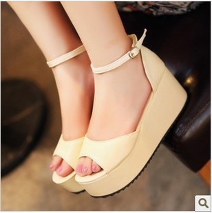 New arrival vintage 2013 open toe platform wedges platform shoes women&#39;s shoes bohemia sandals female shoes(China (Mainland))