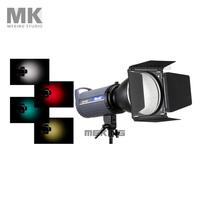 Studio Flash Barndoor For Strobe Honeycomb Light Control snoot 15cm-MK with Gel Filter Color