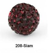 Free Shipping Shamballa beads Wholesales, Pave Clay Disco Crystal Ball Beads 10mm, #208 Siam ,  20pcs/lot