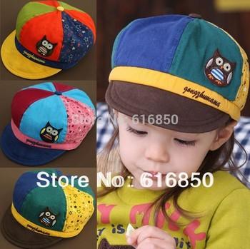 Fashion Owl Baseball Caps Soft Cotton Children Baseball Caps Unisex Kids Sported Hats Free Shipping 3365