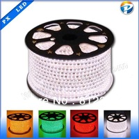 DHL/ Fedex Free shipping 100M/lot 220v smd 5050 flexible led strip 60led/meter, waterproof IP66, with 220V power adapter