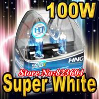 Free Shipping 2x H7 100W HID Xenon Super White Car Headlight Head Light Lamp Bulbs 12V 6000k