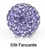 Free Shipping Shamballa beads Wholesales, Pave Clay Disco Crystal Ball Beads 10mm, #539 Tanzanite,  20pcs/lot