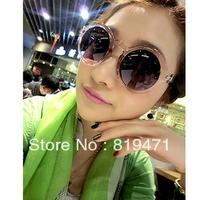 Freeshipping Fashion transparent box vintage sunglasses glasses jelly sunglasses