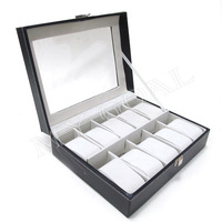 10 Grids Leather Jewelry Watch Display Box Storage Holder Organizer Case Holder[200305]