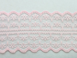 FREE SHIPPING 10 Meters Deep Pink Embroidered Net Lace Trim Ribbon 47mm #22778(China (Mainland))