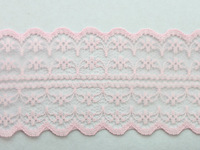 FREE SHIPPING 10 Meters Deep Pink Embroidered Net Lace Trim Ribbon 47mm #22778