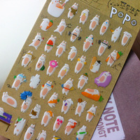 Free shipping! Funny rabbit three-dimensional gel bubble stickers photo album 15s-c522  /DIY sticker label/wholesale