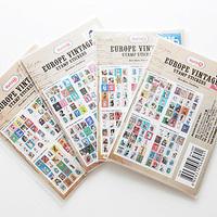 Free shopping 7321 vintage antique stamps label paper adhesive photo album decoration stickers 4  designs 800pcs/lot