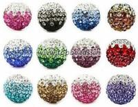 Two Tone Shamballa beads, 10mm shamballa beads