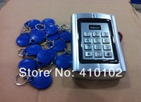 15pcs fobkey free +RFID Access controller with metal design single door EM ID card 125KHZ Waterproof Good performance