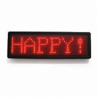 LED badge LED mini display LED name tag