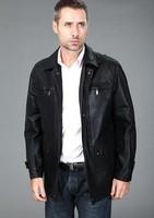 Sell Like Hot Cakes! Free Shipping !New Winter Men's Leather Jacket Men Sheep Skin real Leather Jacket fashion LeisureM-3XL
