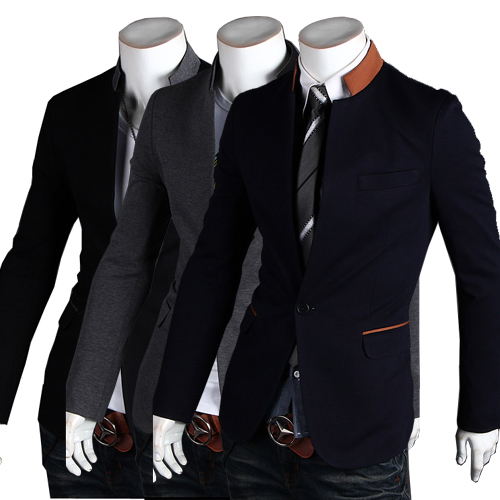Free Shipping Hot Men's Suit,Brand Name Suit ,Casual Men's Suit, Fashion Slim Men's Jacket Color:Black,Navy,Gray Size:M-L-XL-XXL(China (Mainland))