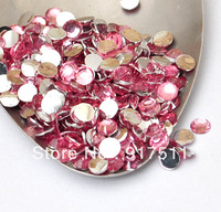 3mm 10000pcs Pink resin Silver Flatback acrylic Resin rhinestone cabochon glitter 3D nail art supplies diy phone case decoration