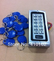 15pcs Fobkey Included +Waterproof RFID Single Door Access Control System With Back Light Keypad  Metal Case