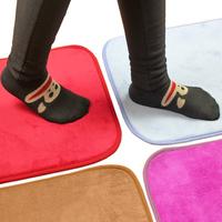 Ultrafine fiber coral fleece slip-resistant pad thickening absorbent mats doormat bath mat 130g