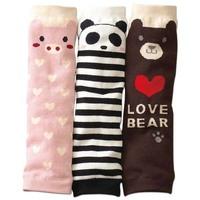 free shipping 8 pcs/lot baby girls' knee warmer/ protecter socks l Children socks set kneepad ankle sock shote bear