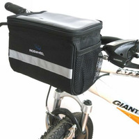 2013 Cycling Bike Bicycle Handlebar Bar Bag Front Basket Velcro Quick Release