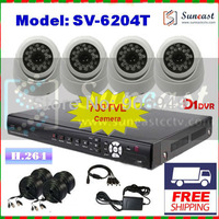 Free Shipping Sony Effio-E 700TVL CCTV System 4CH Indoor IR Dome Camera  Security Kit with Full D1 DVR Surveillance Wholesale