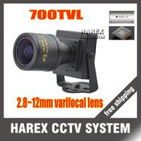 700TVL  960H CMOS 2.8-12mm varifocal lens Mini cctv camera . Free Shipping
