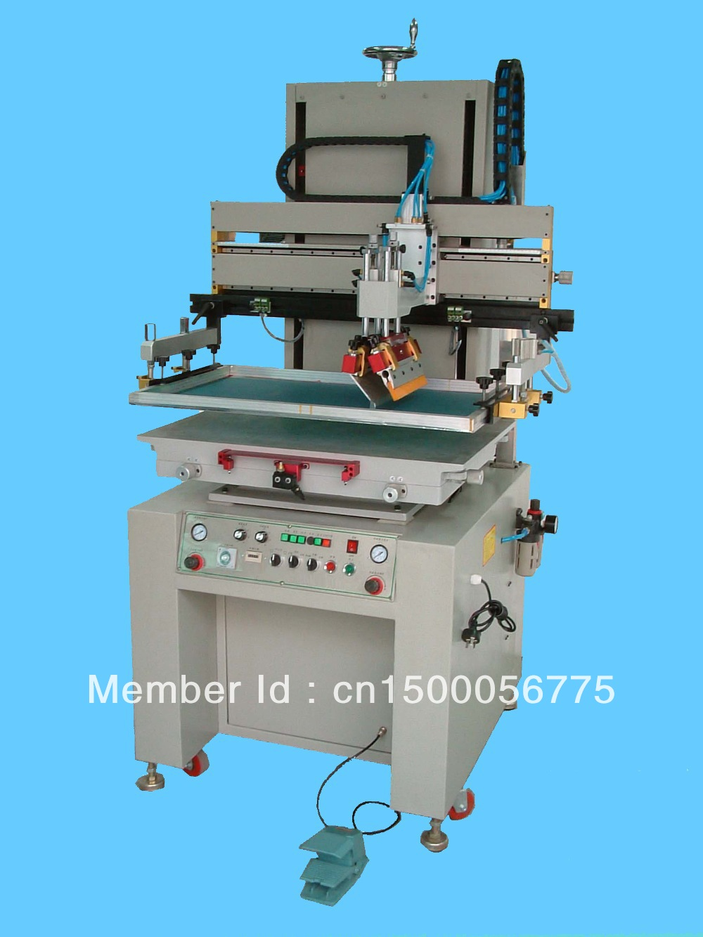 Motor-driven semi auto flat silk screen printing machine(China (Mainland))