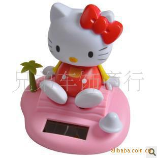 Car Accessories Solar doll head the feet moving Series Jushi ornaments hello kitty KT cat can be mixed batch