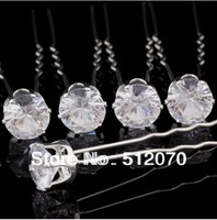 Free Shipping 40pcs/lot Clear Crystal Bridal Hair Pins Wedding Bridesmaid Formals D09*24