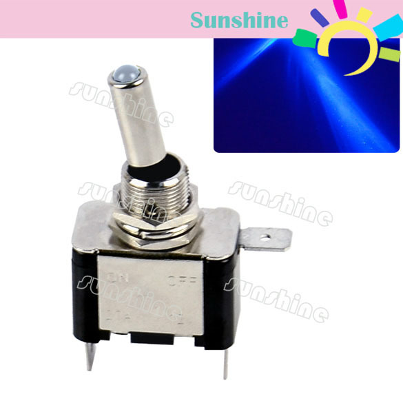Car/Boat Light LED DC12V 20A Toggle ON/OFF Switch Blue Light TK0175(China (Mainland))