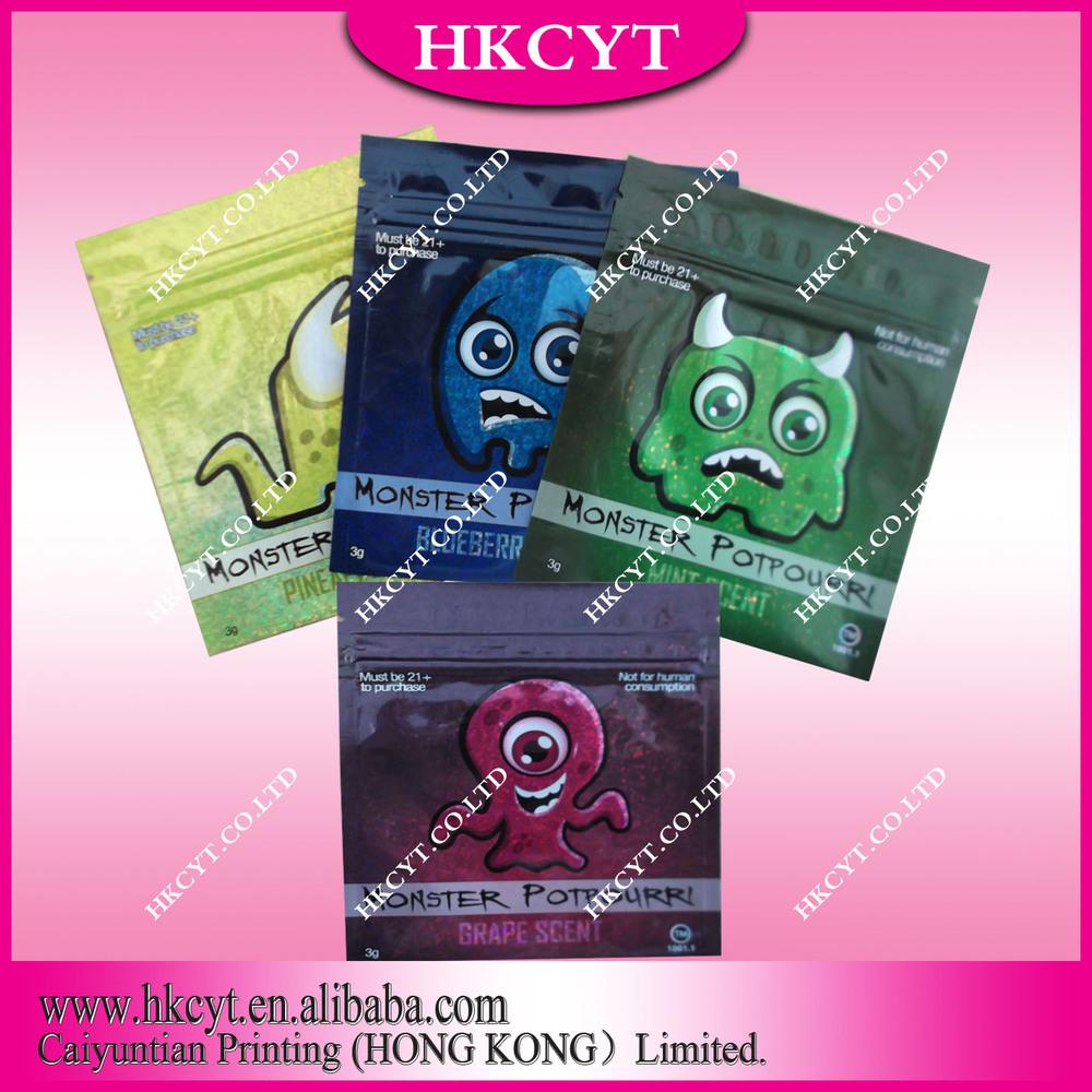 Cute Mr Nice Guy Potpourri Aluminum Foil Mylar Bags 1g(Hong Kong)