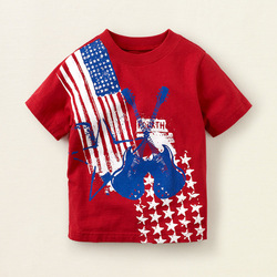 wholesale 6pcs/lot rock music stars baby red tshirt 5697 cute baby shirt,free shipping(China (Mainland))
