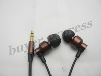 30PCS So pupular earphone metal in-ear 3.5mm jack hammer shape mutil colors best price free shipping