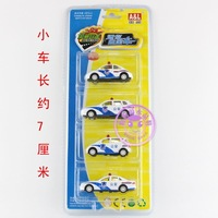 O.l alloy car model toy car 4 police car set WARRIOR car alloy car