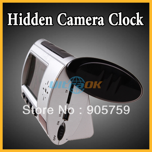 Digital Motion Detector Clock Hidden Camera DVR Camcorder Use TF Card as storage (Not Included)(China (Mainland))