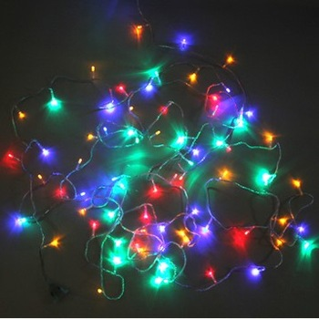 Multicolour outdoor waterproof led lighting small in lantern flasher lamp set decoration lamp 10 meters 80 lamp wedding props