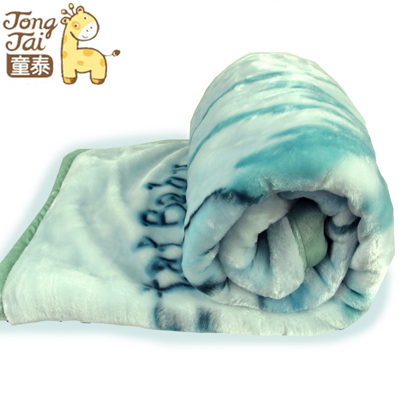 Tongtai carpetbaggery gift box 2637 baby raschel blanket beautiful bear pattern(China (Mainland))