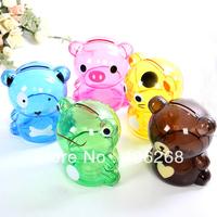 free shipping wholesale cheap!!! Cartoon bear animal  transparent creative piggy bank  Money Boxes coin Boxes coin bank