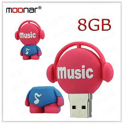 Real Capacity 8GB usb flash drive Musician Type Pen Driver Gift USB Flash Disk DA0068 -20 -20(China (Mainland