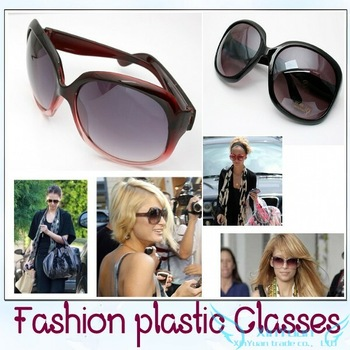 Large frame sunglasses Ms. Sun glasses Dark glasses Frog mirror + Free shipping Min order is 10$(Mixed order)