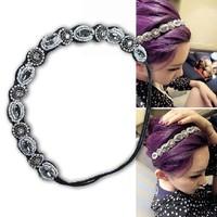 Freeshipping wholesale fashion beads handmade party elastic headband hairband with gems 12pc/lot