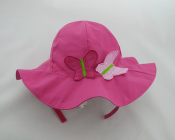 2013 butterfly child hat children rose red bucket hats fashion  Infant Spring Kids Beanie beach cap girls sunbonnet gifts