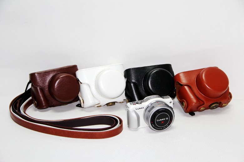 The new Panasonic micro-single-camera bag the GF5 cameras package GF5 the GF3 holster protective cover X14-42 dedicated(China (Mainland))