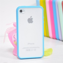 Hybrid Gummy PC/TPU Slim Protective Case for iPhone 4 4S, 20pieces/1lot(China (Mainland))